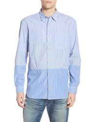 French Connection - Regular Fit Stripe Sport Shirt - Lyst