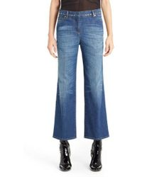 Valentino - Studded Wide Leg Jeans - Lyst