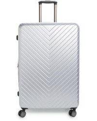 Nordstrom - Chevron 29-inch Spinner Suitcase - Metallic - Lyst