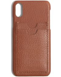 new product e2035 e42be Lyst - Madewell Card Slot Leather Iphone 6/7/8 Plus Case - in Black