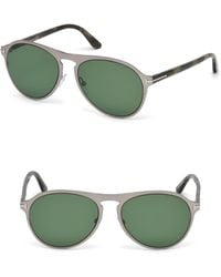 614cd2f30674 Lyst - Tom Ford Aviator Sunglasses Tf525 Bradburry 28e Gold havana ...