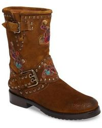 Frye | Nat Embroidered Engineer Boot | Lyst
