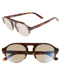 Web - 52mm Sunglasses - Dark Havana/ Brown Mirror - Lyst