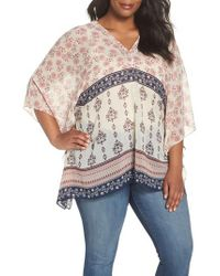 Vince Camuto - Tile Wildflower Poncho - Lyst
