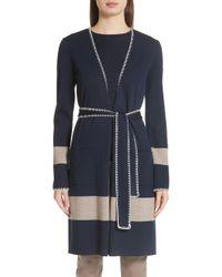 St. John - Belted Milano Knit Sweater Jacket - Lyst