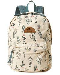 O'neill Sportswear - Beachblazer Print Canvas Backpack - Lyst