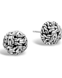 John Hardy - 'classic Chain' Stud Earrings - Lyst