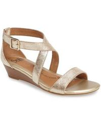 Söfft - 'innis' Low Wedge Sandal - Lyst