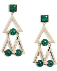 Tory Burch - Stone Studded Statement Earrings - Lyst