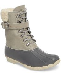 Sperry Top-Sider - Shearwater Water-resistant Genuine Shearling Lined Boot - Lyst