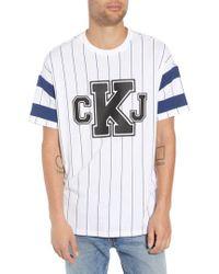 Calvin Klein - Logo Graphic Baseball T-shirt - Lyst