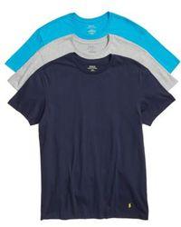 Polo Ralph Lauren - Classic Fit Crewneck Cotton T-Shirt, (3-Pack) - Lyst