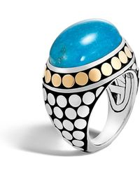 John Hardy - Dot Silver & Turquoise Dome Ring - Lyst