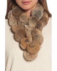 Love Token | Genuine Rabbit Fur Scarf | Lyst