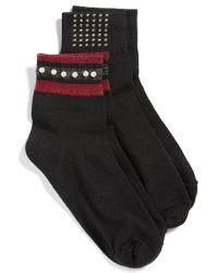 Hue - 2-pack Metallic Socks - Lyst