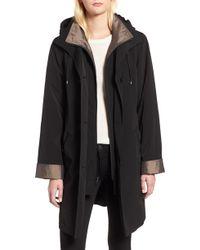 Gallery - Detachable Hood & Liner Raincoat - Lyst