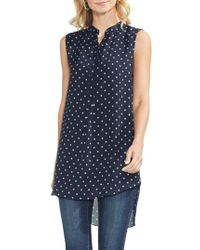 Vince Camuto - Romantic Dots High/low Tunic Top - Lyst