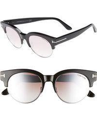 Tom Ford - Henri 52mm Semi-rimless Sunglasses - Lyst
