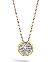 John Hardy | Bamboo Diamond Pendant Necklace | Lyst