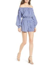 BISHOP AND YOUNG - Bishop + Young Off The Shoulder Romper - Lyst