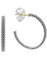 Lagos - Caviar Hoop Earrings - Lyst