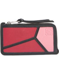 Loewe - Puzzle Leather Zip Coin Case - Lyst