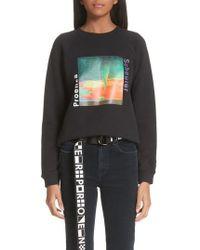 Proenza Schouler - Pswl Twister Graphic Sweatshirt - Lyst