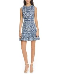Alice + Olivia Rapunzel Embroidered Mini Dress
