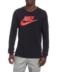 a7798490667 Lyst - Nike Elite Long Sleeve Basketball Shirt in Black for Men
