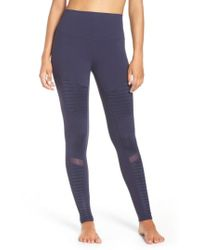 Alo Yoga - High Waist Moto Leggings - Lyst