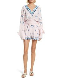 All Things Mochi - Magda Embroidered Romper - Lyst
