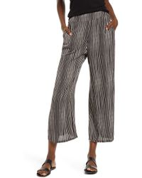 Billabong Cut Through Wide Leg Crop Pants - Black