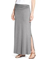 ee30146f3 Bobeau Convertible Knit Maxi Skirt in Black - Lyst