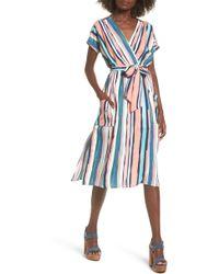Lost + Wander - Santorini Faux Wrap Dress - Lyst