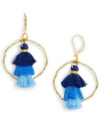 Mad Jewels - Ibiza Tassel & Hammered Hoop Earrings - Lyst