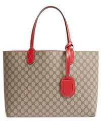 b181dec82092 Lyst - Gucci Gg Running Medium Tote with Double G Detail in Blue