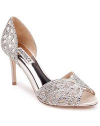 Badgley Mischka - Harris Peep Toe Pump - Lyst