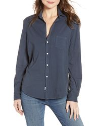 Frank & Eileen - Eileen Jersey Button Front Shirt - Lyst