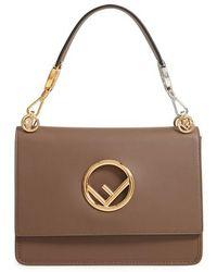 Fendi - Kan I Calfskin Leather Shoulder Bag - Lyst