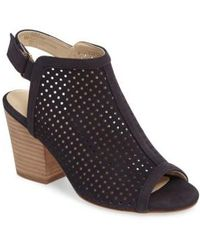 Isola - 'lora' Perforated Open-toe Bootie Sandal - Lyst