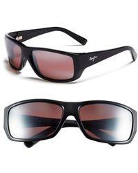 Maui Jim | 'wassup - Polarizedplus2' 61mm Polarized Sunglasses - Gloss Black/ Maui Rose | Lyst