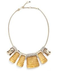 Alexis Bittar | Lucite Crystal Accent Crystal Collar Necklace | Lyst