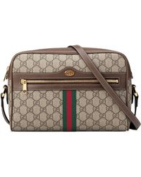 170aa25de18f Gucci Girls' Circle Gg Supreme Crossbody Bag W/ Rainbow Bow in Red ...