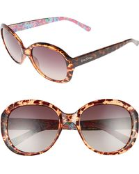 Lilly Pulitzer - Lilly Pulitzer Magnolia 57mm Polarized Round Sunglasses - Havana - Lyst