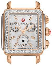 Michele - Deco Diamond Diamond Dial Watch Case - Lyst