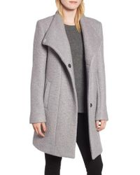 Kenneth Cole - Pressed Boucle Coat - Lyst