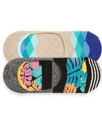 Happy Socks - Jungle 2-pack Liner Socks, Blue - Lyst