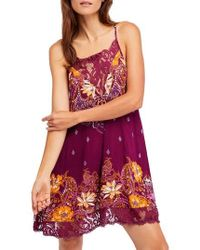 Free People - Who's Sorry Now Print Slipdress - Lyst