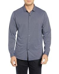 Robert Barakett - Colby Regular Fit Knit Sport Shirt - Lyst