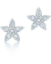Kwiat - Sunburst Flower Diamond Stud Earrings - Lyst
